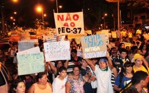 Manifestação em Campo Grande hoje