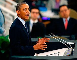 Barack Obama discursa na Assembleia da ONU